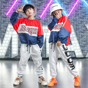 New Hip Hop Clothing For Kids Street Dance Outfit Boys And Girls Jazz Costumes Cheerleader Costumes Child Stage Wear DQL2765
