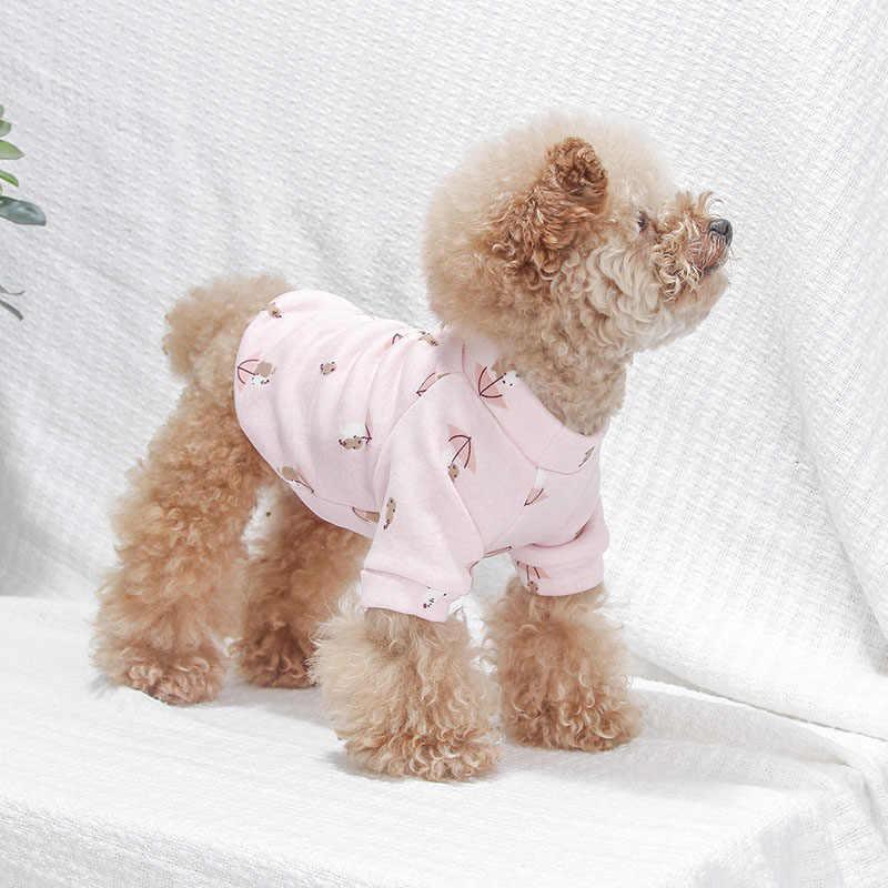 Dessin animé hiver chaud impression chien vêtements manteau printemps été Chihuahua bouledogue français carlin petit chat chien vêtements manteau