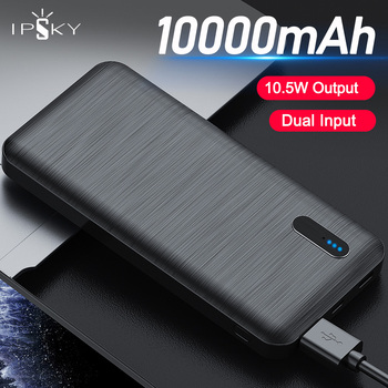 IPSKY 10000mAh Power Bank USB Type C External Batteries Portable Fast Charging Powerbank for iPhone Samsung Xiaomi LED Poverbank
