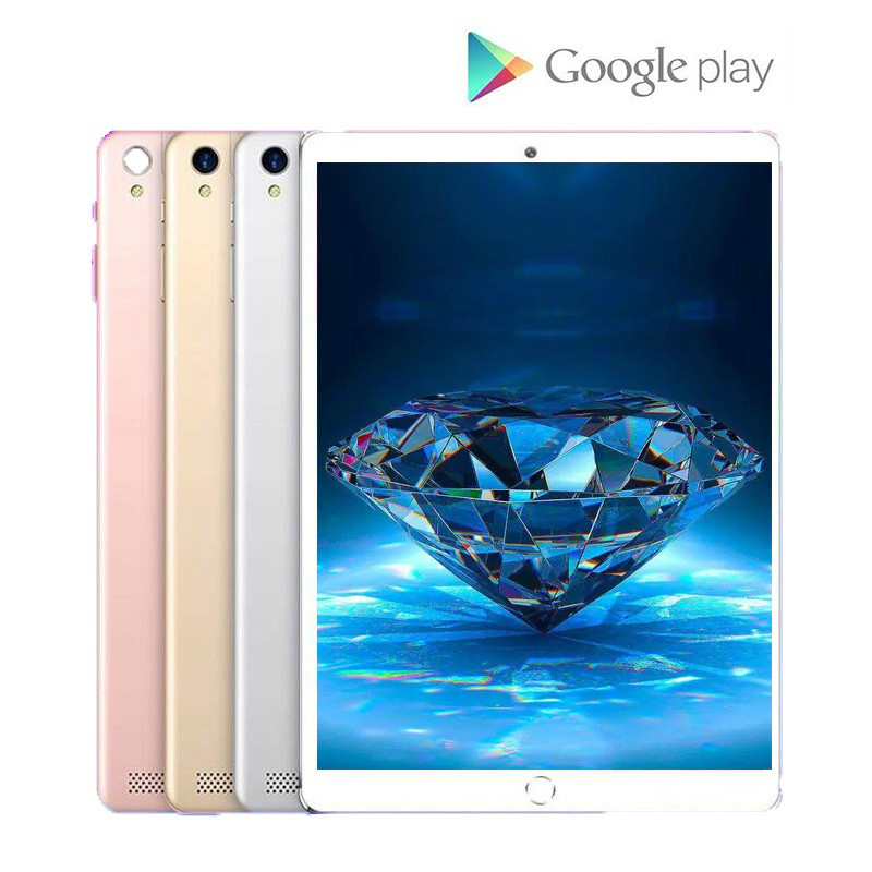 Google Play Tablet 6GB RAM 128GB ROM 4G LTE 10.1 Inch Tablets Android 8.0 Tablet PC 1280*800 Dual SIM IPS GPS Phone 10.1 Tablets