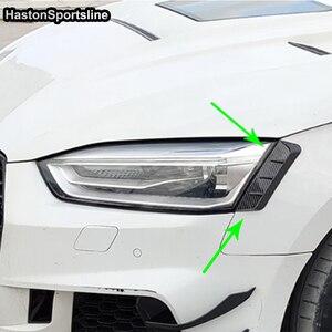 Image 3 - A5 B9 z przodu powieki tylna lampa brwi dla Audi A5 B9 2017 2018 2019 4 sztuk samochodów stylizacji
