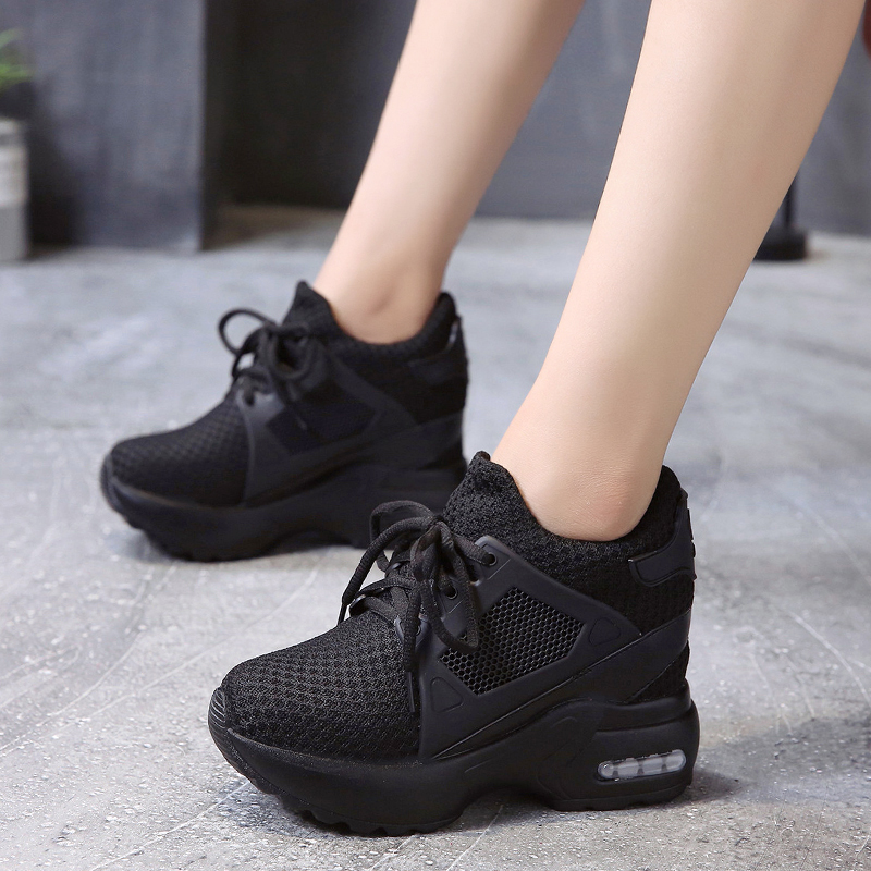 Shoes Woman Sneakers Platform Sneakers Ladies Shoes Sneaker Women Shoes Red Breathable Mesh Womens Ladies Casual Shoes Wedge