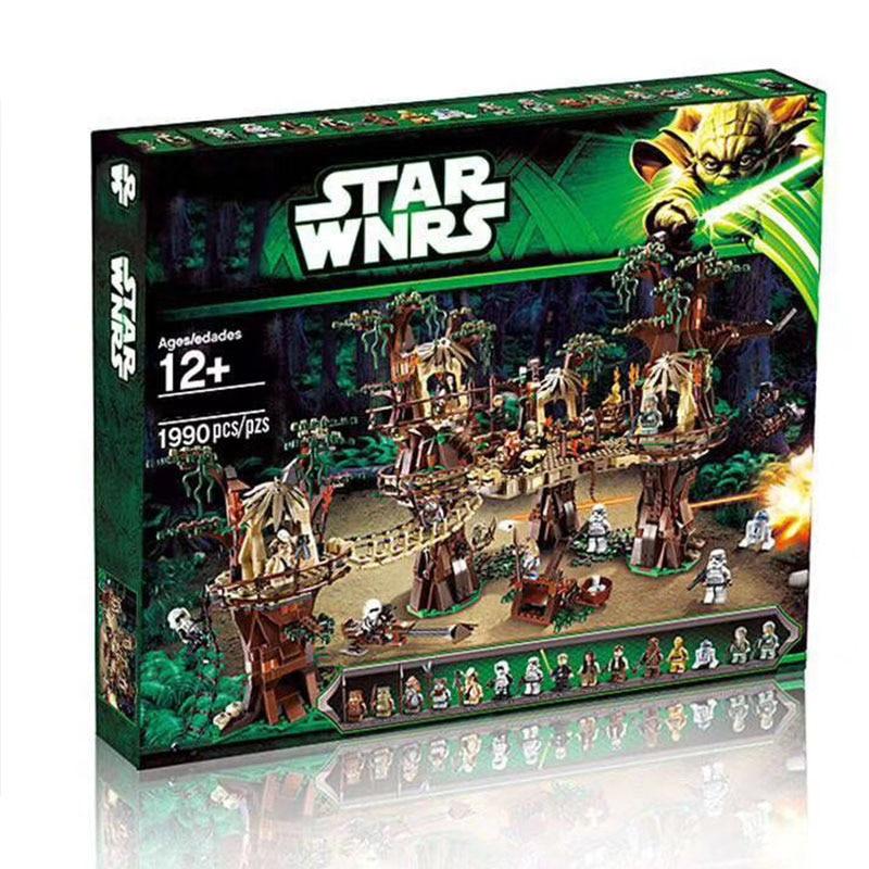 In Stock Lepining 1990PCS Star Plan Wars Ewok Village Forest Model Building Blocks Toy Bricks For Kids Christmas Gift