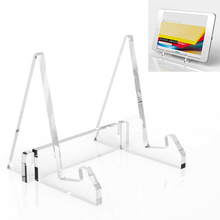 Transparent Acrylic Desktop Compatible For Tablet PC iPad Stand Holder Book Clea