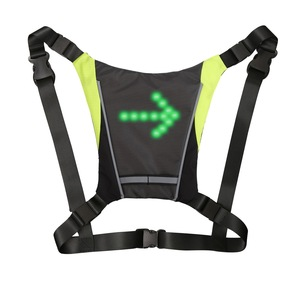 Image 2 - サイクリングled信号vest自転車安全ワイヤレスターン信号光を実行している照明ベスト安全反射警告ベスト