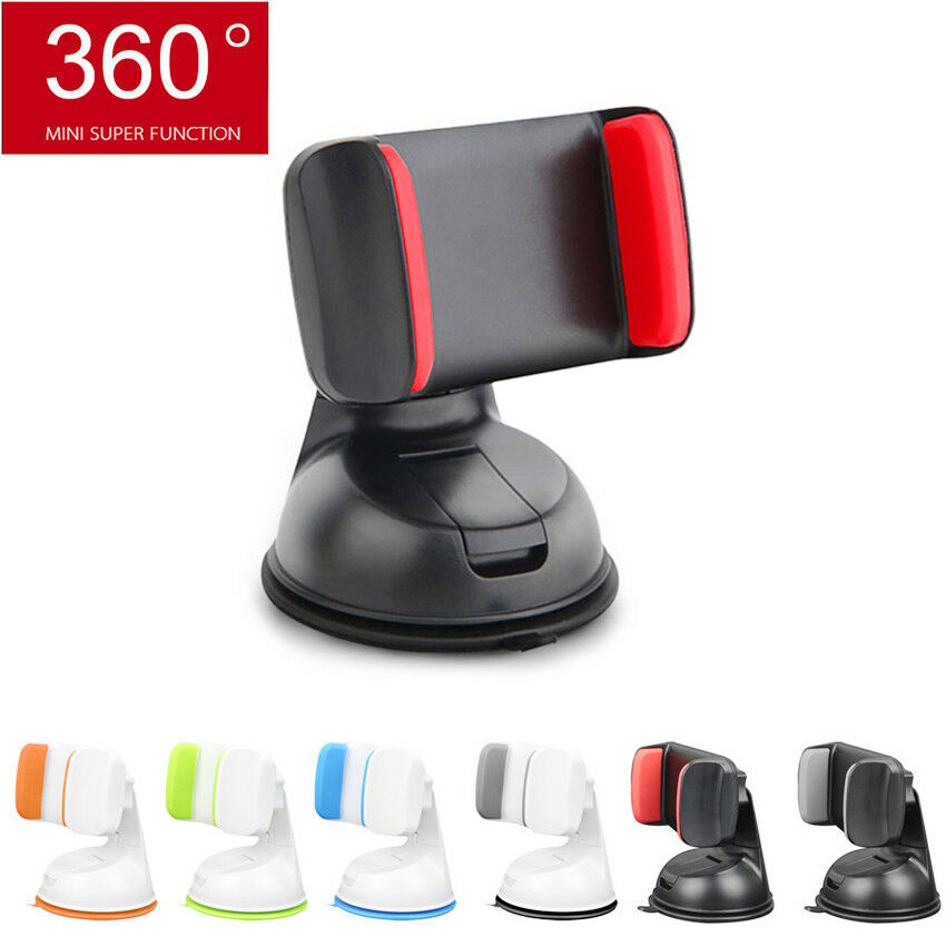 360° Universal Car Holder Stand Mount Windshield Bracket For 3.5-6 Inch Mobile Cell Phone