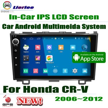 "For Honda CR-V CRV 2006~2012 GPS Navigation Carplayer Android System RockChip PX5 1080P 9"" HD IPS LCD Screen Radio Head Unit"