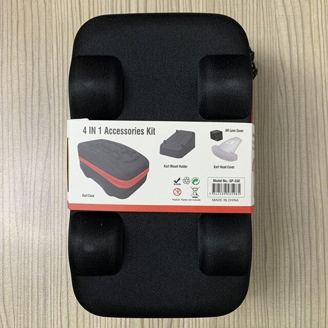 Étui Portable 4 en 1 pour accessoires déquipement électronique, housse de Protection pour Switch NS Mario Kart, sac de rangement