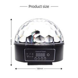 Image 5 - 9 Colors Magic Ball Effect Light Led Stage Party Lamp DMX 512 controller DJ Par Light Voice activated Stage Lights Lumiere Laser