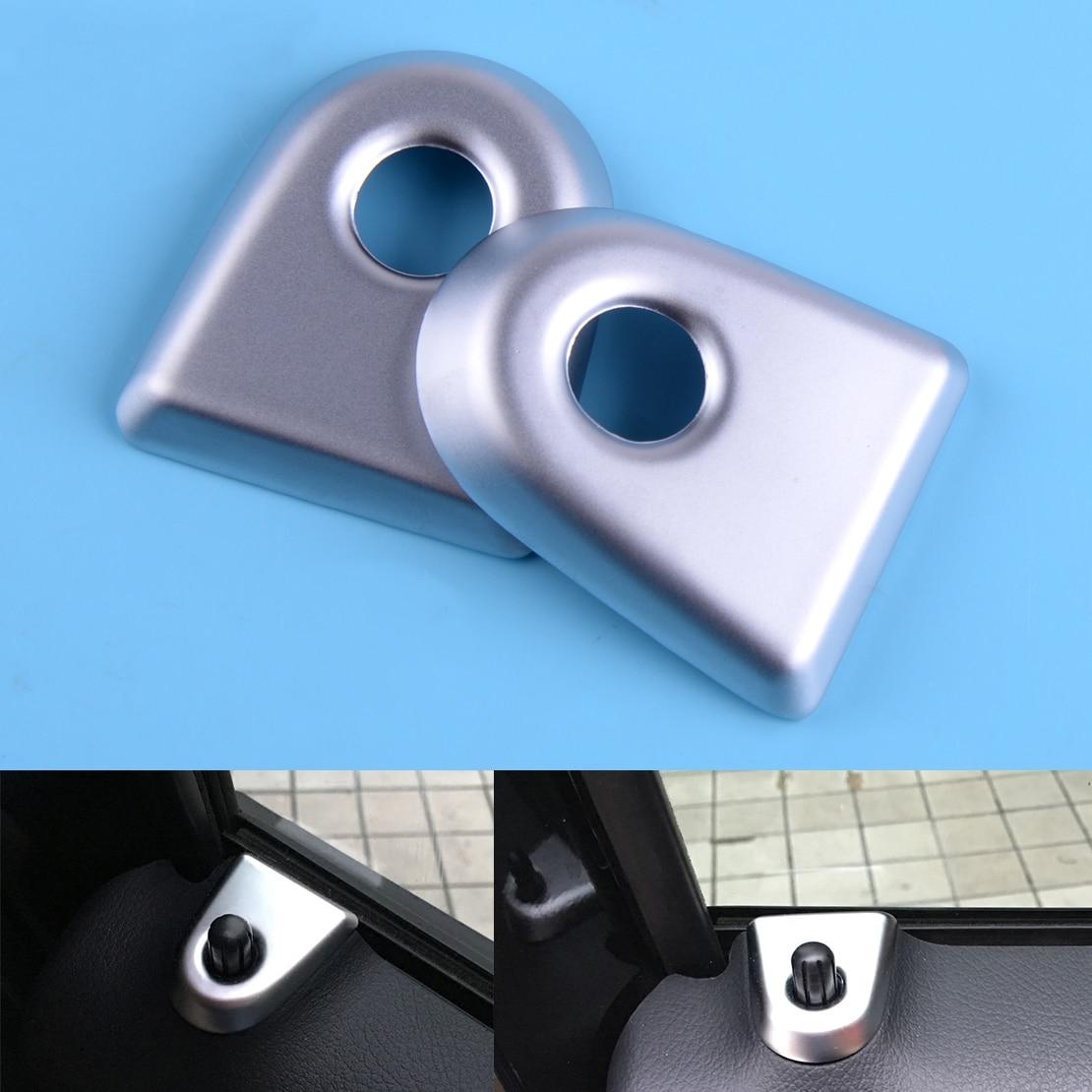 Matt Inner Door lock pins cover trim 4pcs For Mercedes Benz C Class W205 14-16