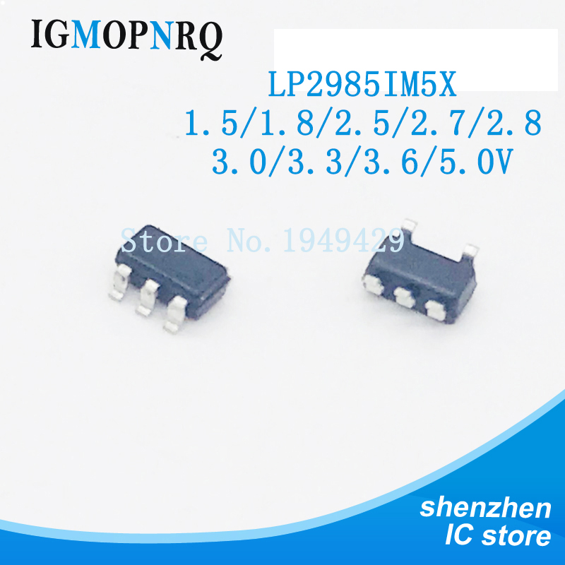 10PCS LP2985IM5X-3.3 1.5/1.8/2.5/2.7/2.8/3.0/3.3/3.6/5.0V SOT23-5 Regulator LDO Reg New