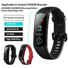 For Honor/5 Honor/4 Running HD Film Smart Wristband Screen Protector Scrub Anti-Finger for Huawei Honor Bracelet 4 Edition(China)