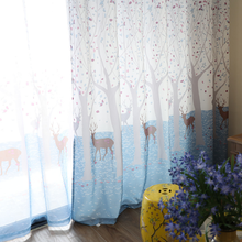 Цифровые готовые шторы для гостиной сада занавески на заказ
