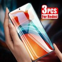 3PCS Full Cover Glass per Xiaomi Redmi Note 10 9 Pro Max 10s 9s Screen Protector per Redmi Note 8 9T 8T 7 6 5 Pro Vetro temperato