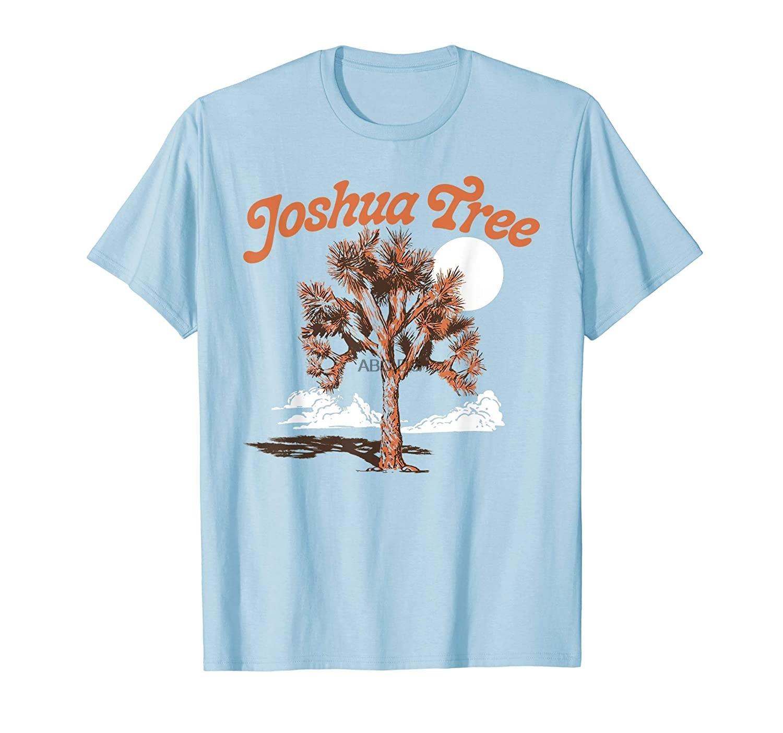 Футболка в винтажном минималистичном стиле с изображением дерева Джошуа в стиле 80-х