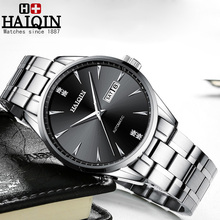 HAIQIN 2019 New Mens Mechanical Watches Automatic Watch Men Business Sport Waterproof Reloj Hombre