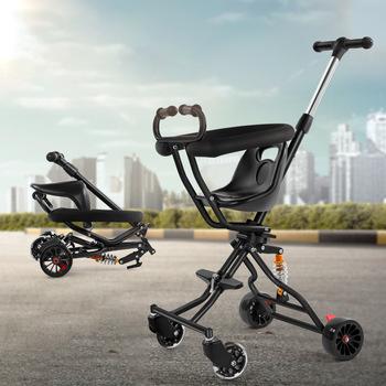 2019 nowy prosty wygodny stabilny wózek dziecięcy składany wielofunkcyjny wózek dziecięcy tanie i dobre opinie