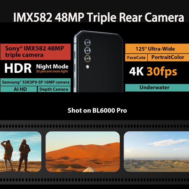 Blackview BL6000 Pro 5G Smartphone IP68 Waterproof 48MP Triple Camera 8GB RAM 256GB ROM 6.36 Inch Global Version Mobile Phones 3