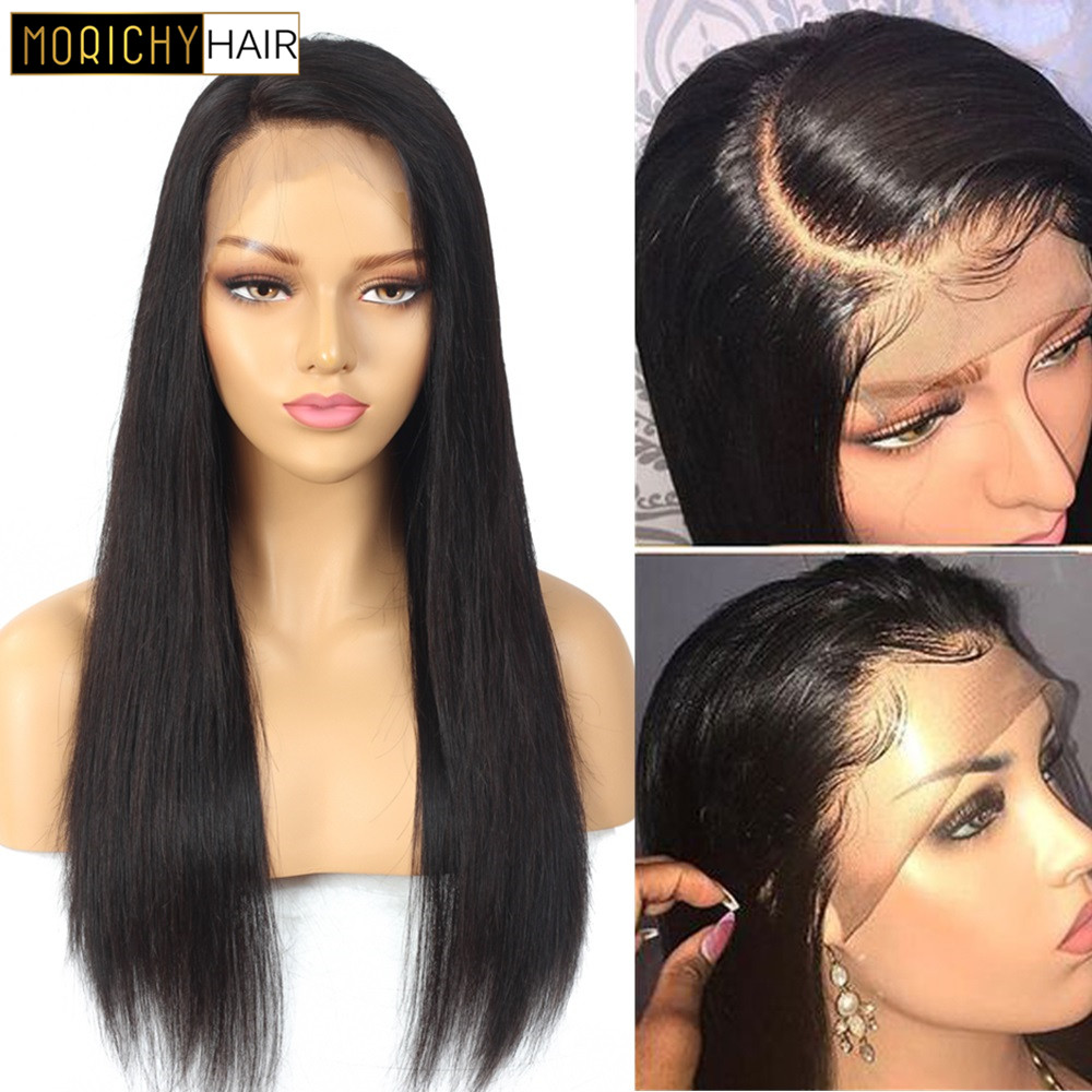 Brazilian Wig 13x4 Straight Lace Front Human Hair Wigs For Black Women Remy Human Hair Wigs Pre Plucked Morichy Hair