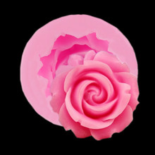 1PC 3D Rose Shape Baking Mold Silicone Chocolate Cake Fondant Mould Baking Sugar Craft Decorating Mold Tool Baking Accessories