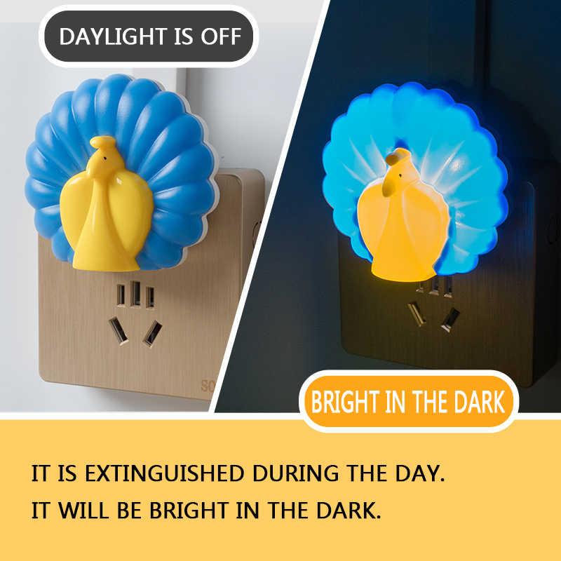 Litwod Z90SY3 Павлин тип дома умный светодиодный свет индукции сенсор управление спальня ночник детская кровать лампа США/ЕС штекер 85-265 в