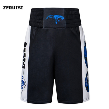 Men's Fitness Bodybuilding Shorts Boxing Shorts MMA shorts Sports Training Competition Muay Thai Shorts Gyms Workout Beach Short wesing mma trunks muay thai boxing short pants sport cool spider pattern kick boxing sport fitness training shorts