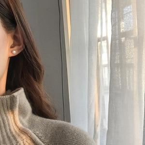 2021 в Корейском стиле Модные простые женские маленькие круглые жемчужные серьги гвоздики в виде капель с кристаллами в форме милой 90s для девочек серьги ювелирные изделия аксессуары подарок S925 иглы|Серьги-гвоздики|   | АлиЭкспресс