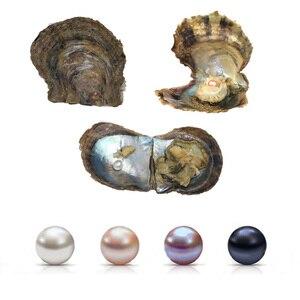Image 2 - 4 kawałki wody morskiej hodowlane miłość życzenie perła ostryga 6 7mm perła ostryga na prezent