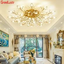 Europe Luxury Crystal Chandelier Ceiling Lamp Modern Gold/Black Indoor Lighting Led Light Fixtures for Bedroom Loft Deco Lustres