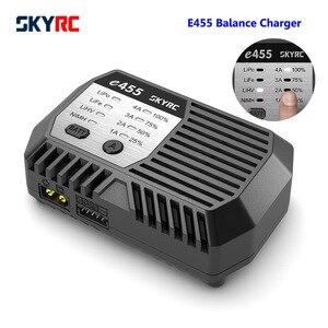 Балансирующее зарядное устройство SKYRC E455 100-240 в 50 Вт 4A для 2-4S LiPo LiFe LiHV аккумулятор 6-8S XT60 коннектор удобное портативное зарядное устройство