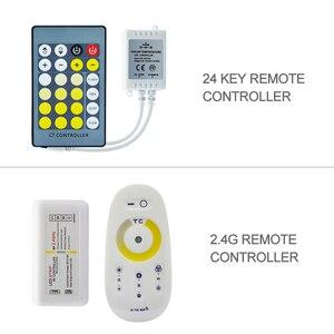 CCT светодиодные полосы Набор Водонепроницаемый/не водонепроницаемый SMD 5050 60 светодиодный s/m светодиодный светящаяся лента + 2,4G/24 ключ пульт ...