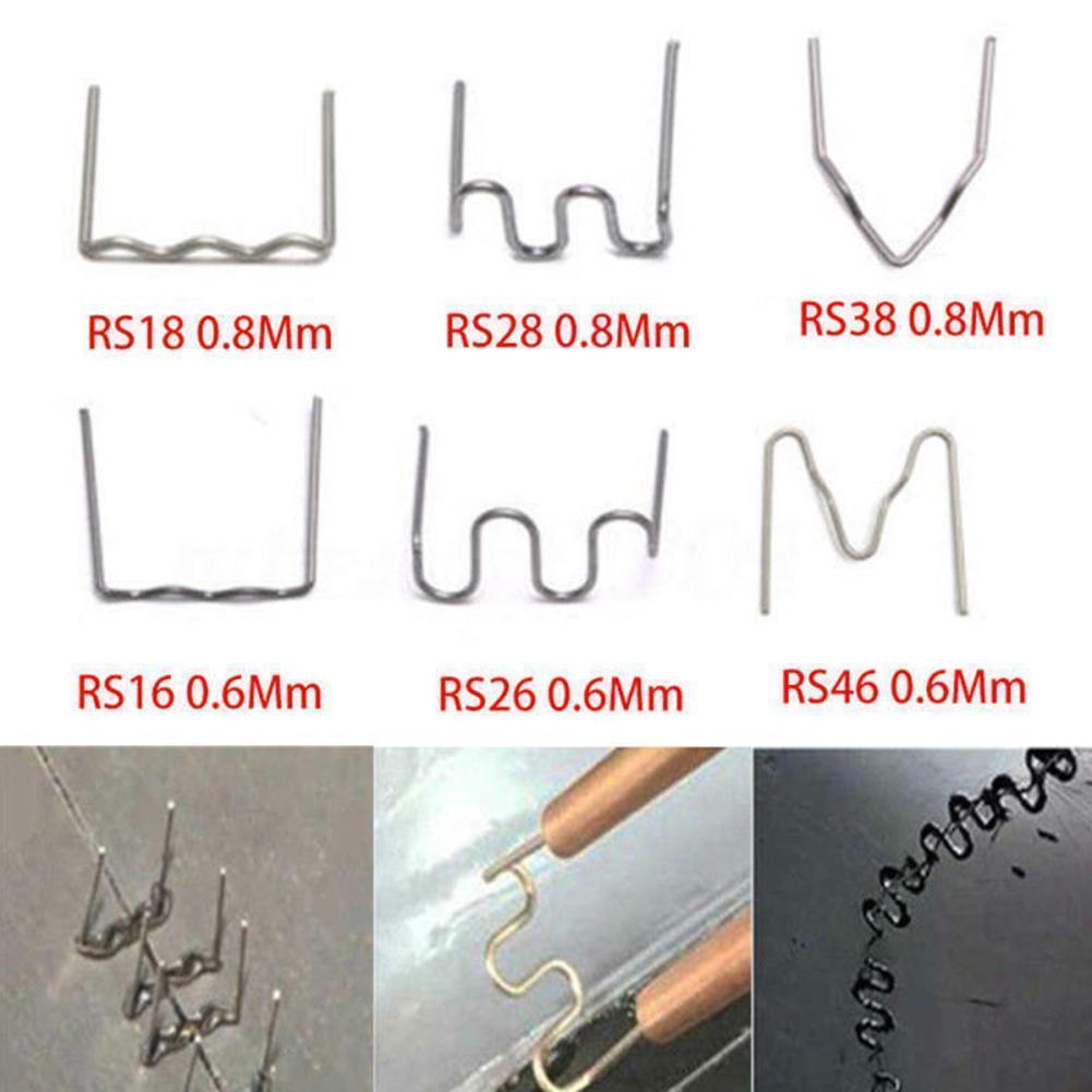 100/600PCS Hot Stapler Staples For Plastic Welder Bumper Welding Car Melt Tool Welding Repair Machine R8E3