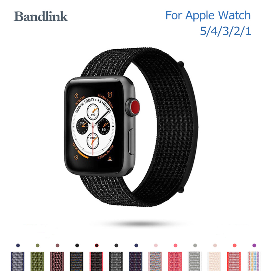 Nylon Watch Band For IWatch 5 4 3 2 1 Apple Watch Band 38mm 40mm Soft Breathable Strap Loop For Apple Watch 3 2 1 42mm 44mm