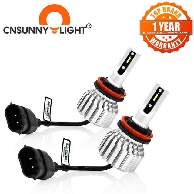 CNSUNNYLIGHT przeciwmgielne z przodu samochodu żarówka LED światła biały H11 H8 9006 H1 H3 880 PSX24W PSX26W P13W H7 9005 5000Lm DC 12V Auto DRL Foglamp
