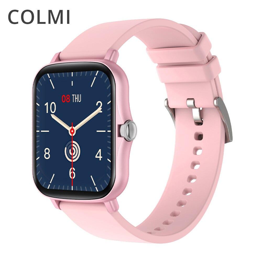 Colmi p8 plus 1.69 polegada relógio inteligente homem ip67 à prova dip67 água monitor de freqüência cardíaca atividade rastreador feminino smartwatch gts 2 gts2