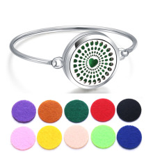 Perfume Bracelet Essential Oil Diffuser Aromatherapy Locket Heart 316L Stainless Steel
