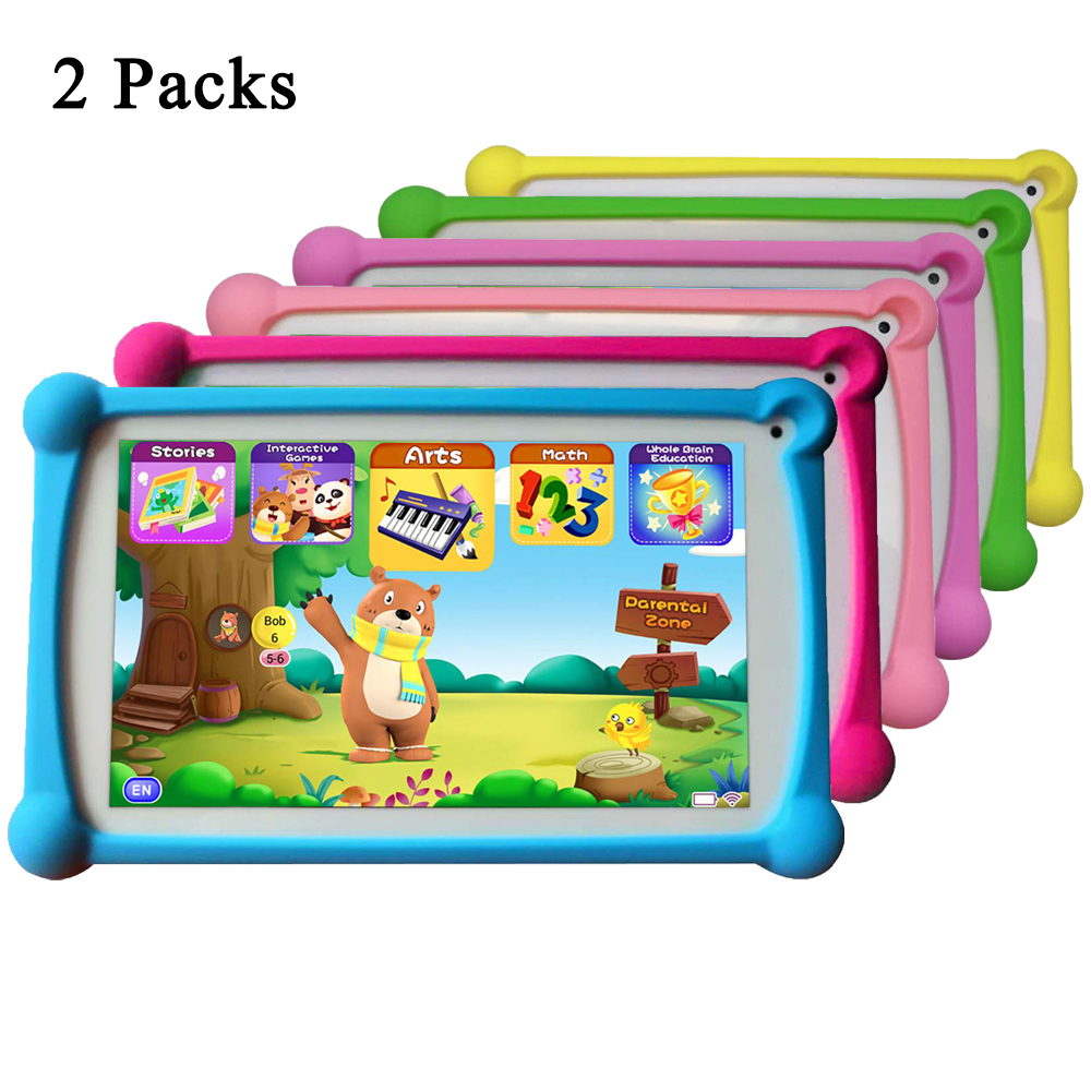 Kids Tablet, B.B.PAW 7 Inch 2+16G Android 6.0 Tablet With 120+ English Learning&Training Apps, 2 Packs
