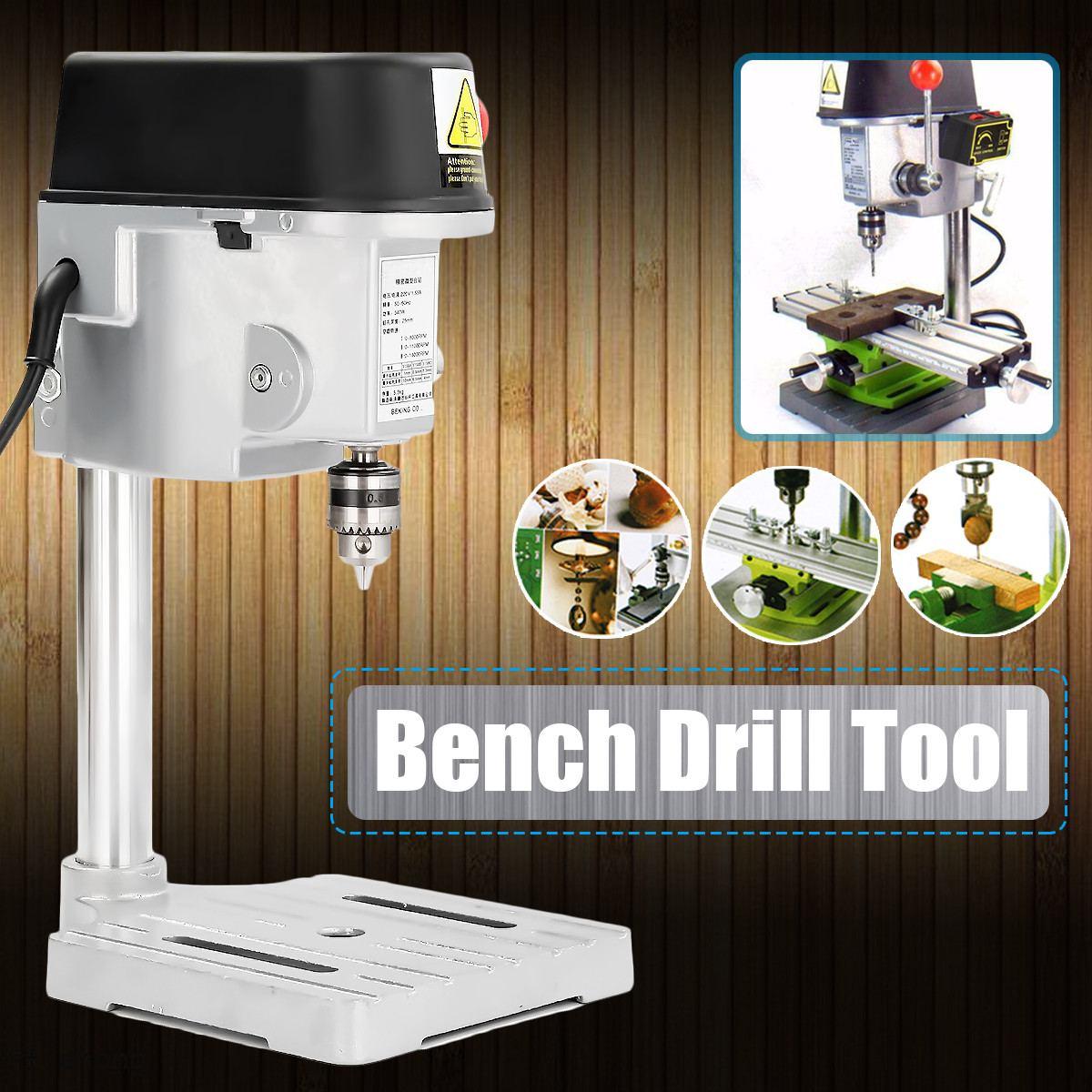 Perforadora Mini perforadora de 240W para máquina de Banco de perforación de brocas de Metal de madera de 0,6-6,5mm herramientas eléctricas