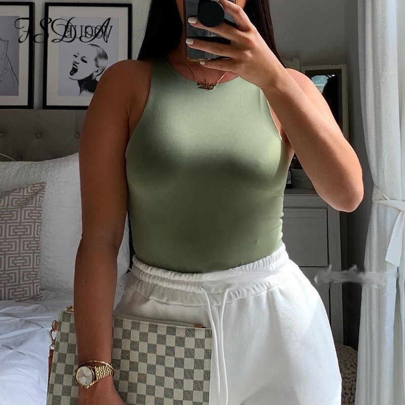 FSDA O Neck Sommer Ärmellose Sexy Body Frauen 2020 Off Schulter Körper Tops Streetwear Casual Weiß Bodys
