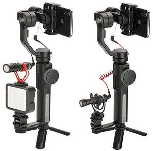 Image 3 - Ulanzi PT 3 Gimbal Accessories Triple Cold Shoe Mounts Plate Microphone Led Video Light Extension Bracket Microphone Stand