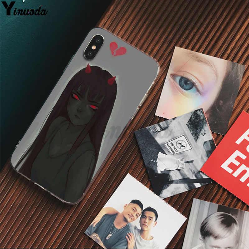 Yinuoda Şeytan Şeytan Lucifer Kız Yenilik Fundas telefon kılıfı Kapak iPhone X XS MAX 6 6s 7 7 artı 8 8 artı 5 5S SE XR