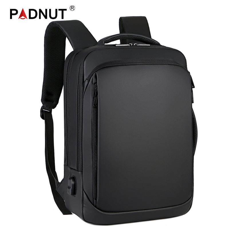 15.6 Inch Laptop Backpack Mens Male Backpacks Business Notebook Mochila Waterproof Back Pack USB Charging Bags Travel Bagpack image
