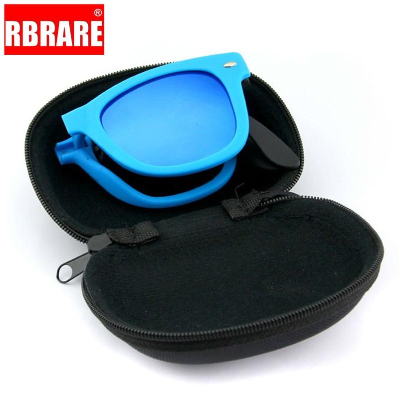 RBRARE Foldable Sunglasses With Box Vintage Classic Sun Glasses Men Shopping Travel Colorful UV400 Lunette De Soleil Femme