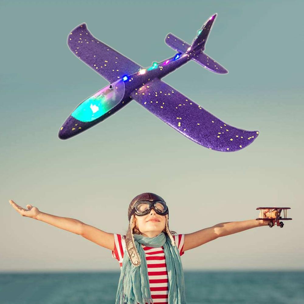 Ручной бросок Самолет EPP пена Открытый Запуск планер самолет детские игрушки 48 см интересный Запуск метание Инерционная модель подарок Заб...