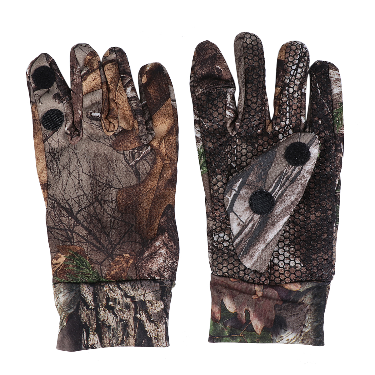 Outdoor Cycling Half-Finger Gloves Cut Finger Gloves With Anti-Slip Silicone Camouflage Fishing Gloves Fishing Accessories image