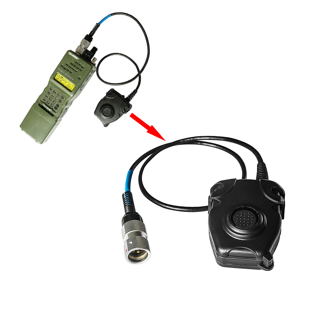 Peltor 6 Pin PTT Headset Adapter For AN/PRC152 PRC148 Military  Walkie-talkie Accessory