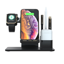 3 in 1 Qi Wireless Charger For Iphone X XS XR 8 Xiaomi Quick Charge 3.0 Fast Dock Stand Apple Airpods Watch 4 2