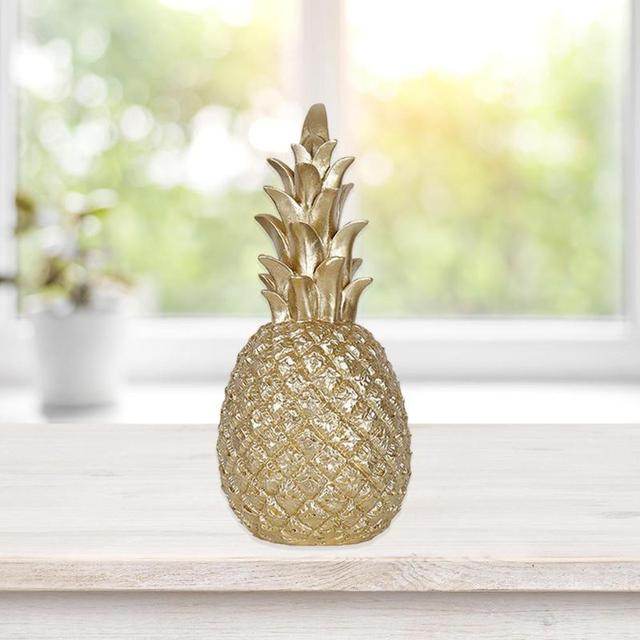 Nordic Style Resin Gold Pineapple Home Decor Living Room Wine Cabinet Window Display Craft luxurious Table Home Decoration Props 6