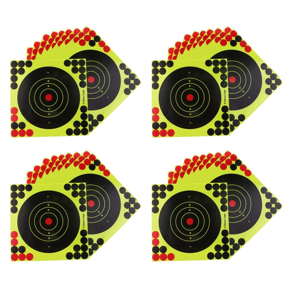 40pcs Shooting Target Paper Adhesive Splatter Sticker Reactive Shots Target