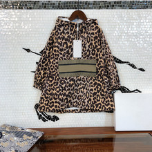 High quality fashion design for boys and girls the same children's classic version of windbreaker Hooded Sweater Leopard Pattern